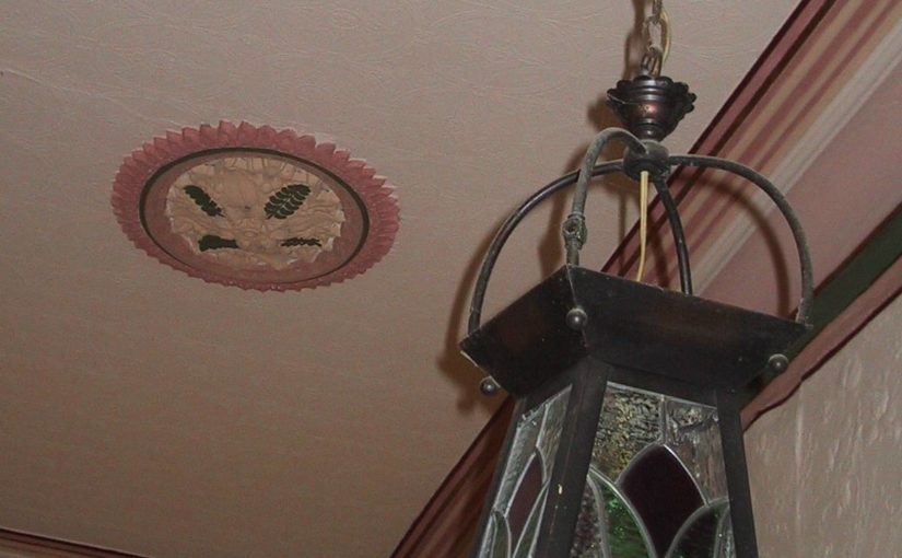 authentic period light fitting